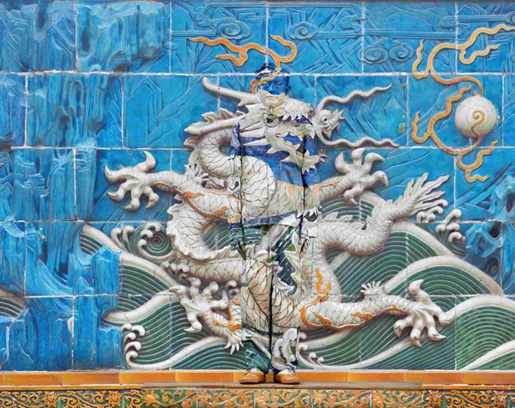 Liu Bolin's Dragon Camouflages