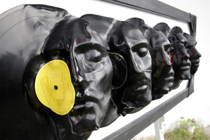 Vinyl Record Sculptures by Angelo Bramanti