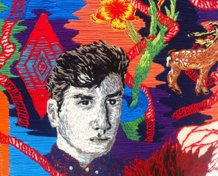 Artist Uses Yarn Instead of Paint