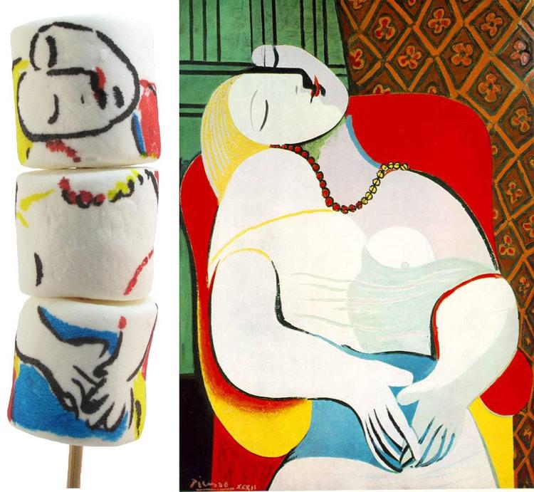 Famous Art on Marshmallows
