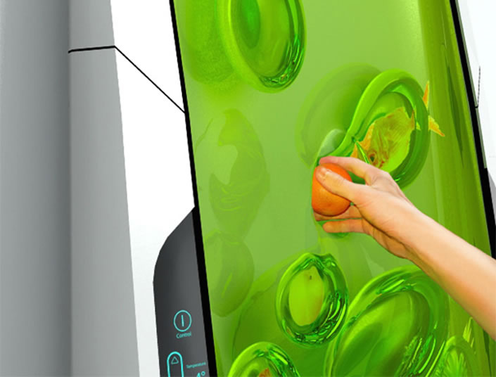 Futuristic Biopolymer Gel Fridge
