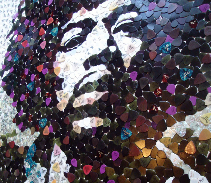 5,000 Guitar Picks form Jimi Hendrix's Face