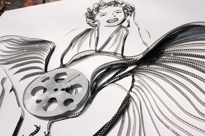 Film Reel Portrait of Marilyn Monroe
