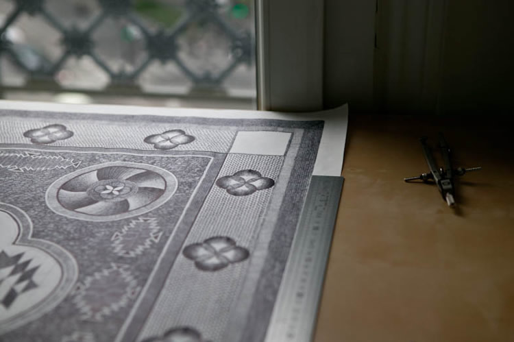 Artist Spends Hundreds of Hours Drawing a Carpet