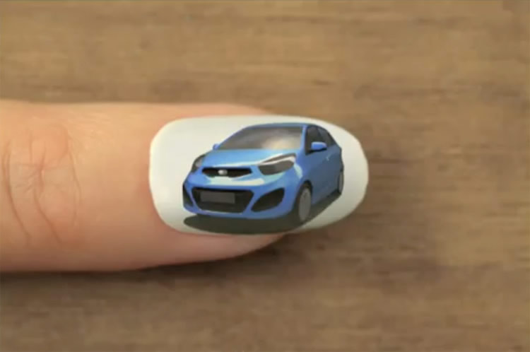 Kia's Car Shines with Nail Polish
