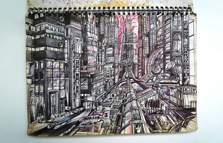 Killer Sci-Fi Drawings in Sketchbook