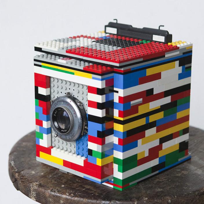 Camera made essentially from LEGO bricks
