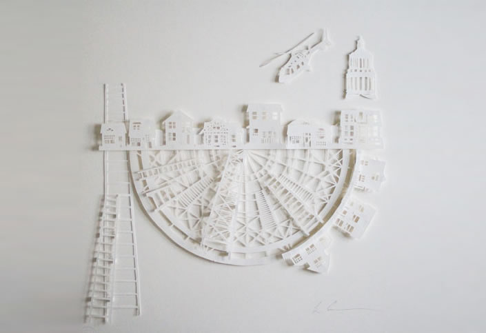 Architectural Landscapes Made From Paper