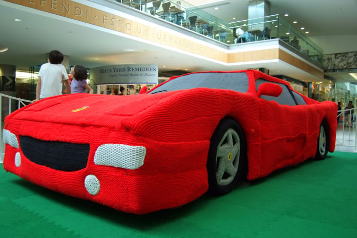 Knitted Ferrari