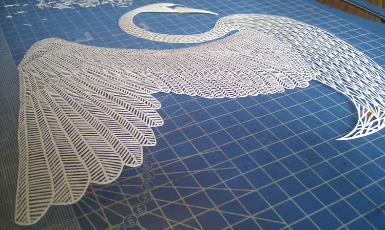 Paper Cut Swan