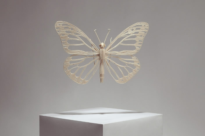Flying Insects made from Matchsticks