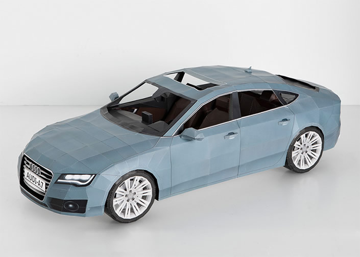 Paper Crafted Audi A7