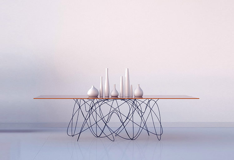 A Table Design Inspired By Quantum Physics