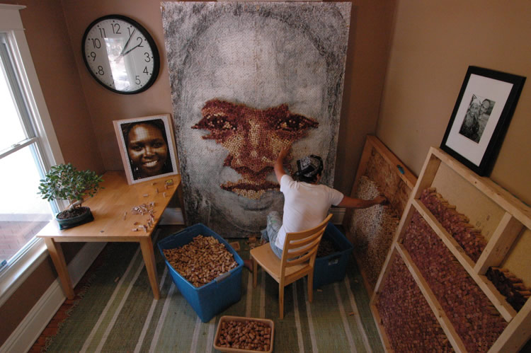 The Artist Recycles Over 9000 Wine Corks