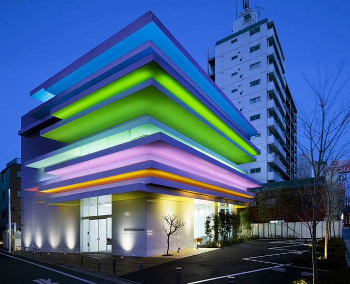 Stunning Rainbow Bank in Japan