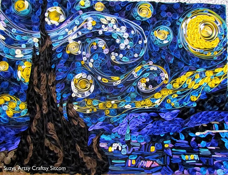 "The Paper Version of Van Gogh's ""Starry Night"""