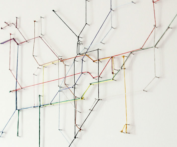 Metro Map created from Colored Strings