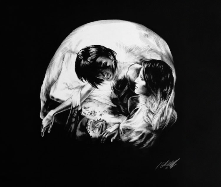 Skull Illusion Art by Tom French